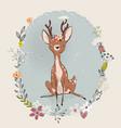 cute summer deer vector image