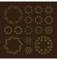 Floral Element Linear Style Line Art vector image