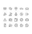Line Navigation Icons vector image