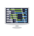 programming system codes vector image