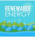 Renewable energy Wind and sun generation vector image
