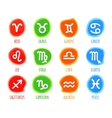 Set of signs zodiac watercolor in spots vector image