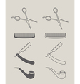 vintage set of icons hipster style vector image
