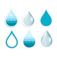 water drop set vector image