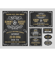 Wedding invitation chalkboard design with flourish vector image