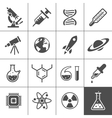 Research icon set vector image