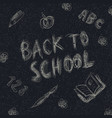 back to school holiday background childish vector image vector image