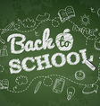 Back to school poster with doodles vector image