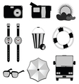 stuff for travel and beach vector image