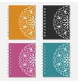 Set of colorful notebook covers with flower design vector image