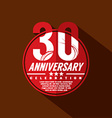 30 Years Anniversary Celebration Design vector image