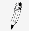 black and white pencil vector image