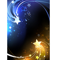 Design with Contrasting Stars vector image