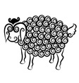 Sheep decorative vector image