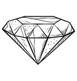 doodle style diamond vector image
