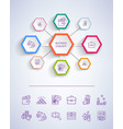 business concept icons on vector image