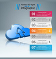 business infographics download icon cloud icon vector image