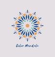 geometric mandala symbol vector image