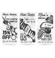 set of vintage templates for barber shops vector image