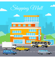 Shopping Mall Urban Composition vector image