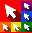 arrow sign   set of icons with vector image