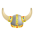 Viking Helm with gems vector image vector image