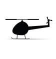helicopter black icon silhouette vector image