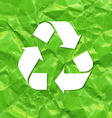 Green Crushed Paper Recycle vector image vector image
