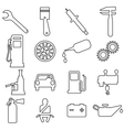 Collection flat icons Car symbols vector image vector image