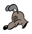 cartoon style dog in brown vector image