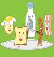 Breakfast Cartoon vector image