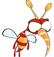 Cartoon of red fly insect vector image