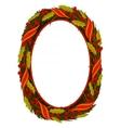 oval wreath frame vector image