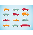 Set of paper cars vector image