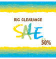 big clearance sale banner for advertising design vector image