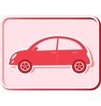 button with retro car vector image