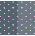 Seamless colorful heart blue pattern vector image