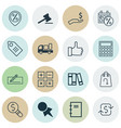 set of 16 commerce icons includes business vector image