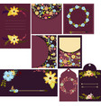 set of beautiful templates for cards wedding vector image