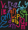 Stylish alphabet font vector image