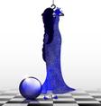 blue evening dress vector image