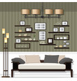 nice living room vector image