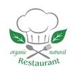 Organic natural restaurant icon vector image vector image