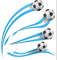 argentina flag set with soccer ball vector image vector image