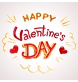 Happy Valentines day watercolor lettering vector image vector image