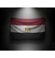 waving flag egypt on a dark wall vector image vector image
