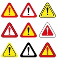 Set of Exclamation Signs vector image