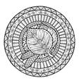 Autumn theme Mandala tribal doodle ornament vector image