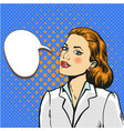 business woman pop art comic vector image