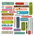 Colorful Books Drawing Library Collection vector image